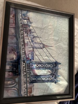 Glass watercolor picture for Sale in Ashburn, VA