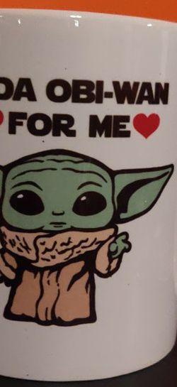Baby Yoda Mug Yoda Obi Wan For Me Star Wars Hearts Cute for Sale in Bakersfield,  CA