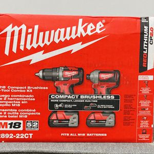 Milwaukee M18 BRUSHLESS Compact 2-Drill Combo Kit for Sale in Philadelphia, PA