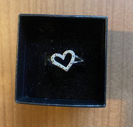 Sterling Silver Diamond Heart Ring for Sale in Columbia,  MD