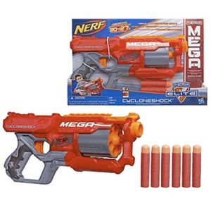 Nerf Cycloneshock N strike Mega gun and extra foam bullets for Sale in SUNNY ISL BCH, FL