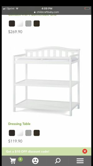 Brand new dressing and changing table for Sale in Rockville, MD
