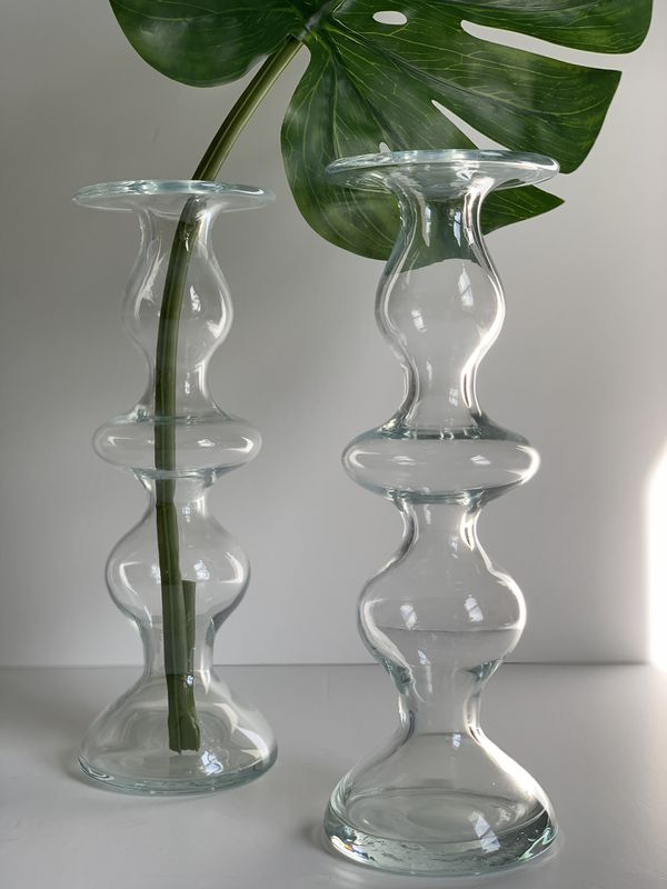 Various home decor items for sale! Vase, decanters, candles, African wall baskets and more!