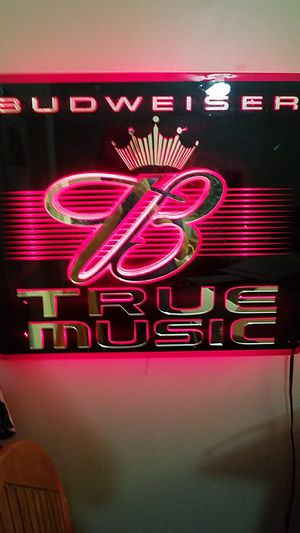 Vintage Budweiser true music neon sign for Sale in Ardmore, PA