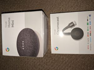 Google home mini and Chromecast for Sale in Belle Vernon, PA