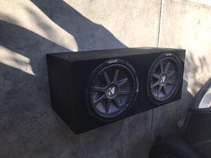 Dual kickers subwoofers competition series with box for Sale in Fullerton, CA