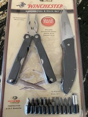 Winchester Folding Knife and leather man tool new in box for Sale in Lexington, OK