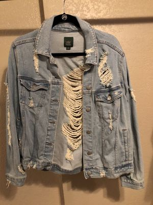 Distressed jean jacket for Sale in Fresno, CA