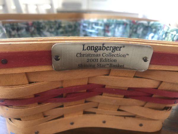 Longaberger Star Shaped Christmas Basket