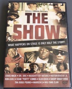 The Show DVD Hip Hop Rap Notorious B.I.G. Biggie Smalls Dr. Dre Snoop Dog Puff Daddy Wu-Tang rare dvd (used) for Sale in Buena Park,  CA