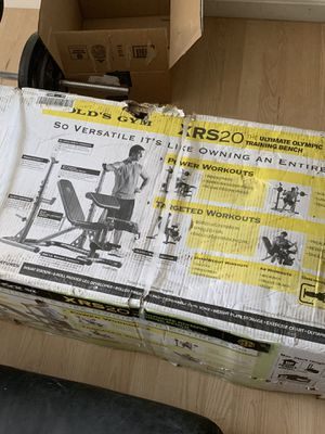 Gold gym Xrs 20 brand new for Sale in Brockton, MA