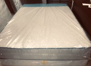 """QUEEN MEMORY FOAM GEL ORTHOPEDIC HARD VERY FIRM COMFORTABLE 11"""" MATTRESS AND BOX SPRING BRAND NEW DELIVERY AVAILABLE for Sale in Boston, MA"""