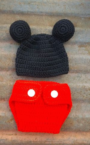 Handmade inspired by mickey mouse baby outfit. for Sale in Fort Worth, TX