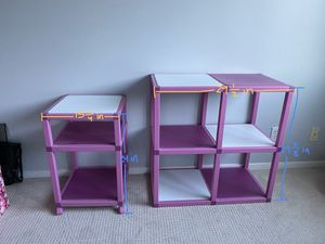 Plastic organizer shelves for Sale in Seattle, WA