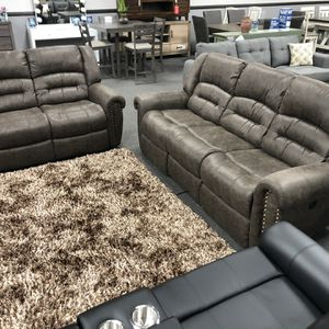2PC Charcoal Power Sofa & Love Seat 🔥 for Sale in Fresno, CA