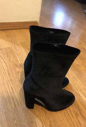 Black velvet boots ; brand new for Sale in San Diego, CA