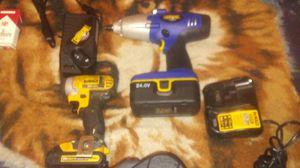 24v Gearhead 1/2 impact wrench & Dewalt 20vmax Impact drill for Sale in Stockton, CA