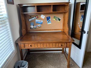 Wooden Desk with shelve for Sale in Nolensville, TN