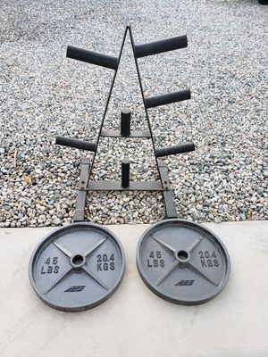 Weight tree and Olympic weights for Sale in Victorville, CA