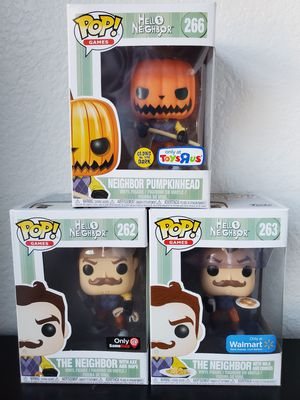 Hello Neighbor Exclusive Funko Pop! Lot for Sale in Euless, TX