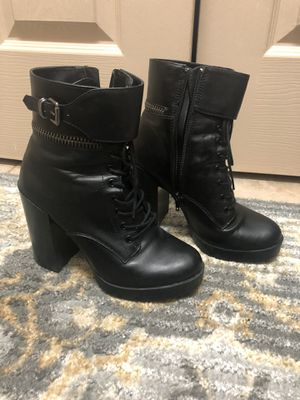 Forever 21 Black Heel Booties Size 7.5 for Sale in Howell Township, NJ