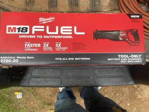 M18 fuel brushless sawsall TOOL ONLY NEW$135 price firm for Sale in Charlotte, NC