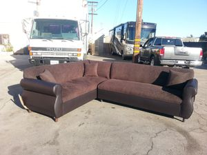 NEW 7X9FT CHOCOLATE COMBO SECTIONAL COUCHES for Sale in Westminster, CA