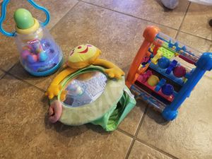 Pop up toy, car mirror, rattle/shape kids toy for Sale in Clovis, CA