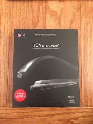 LG TONE PLATINUM WIRELESS STEREO HEADSET for Sale in Greenbelt, MD