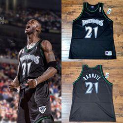 Garnett Timberwolves Champion Jersey SZ-2XL Black Rare Twins Celtics Vikings for Sale in Henderson,  NV