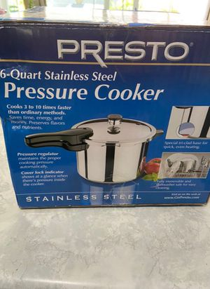 Presto pressure cooker unopened for Sale in Jurupa Valley, CA