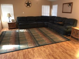 Six piece sectional with rug 10x12 for Sale in Goodyear, AZ