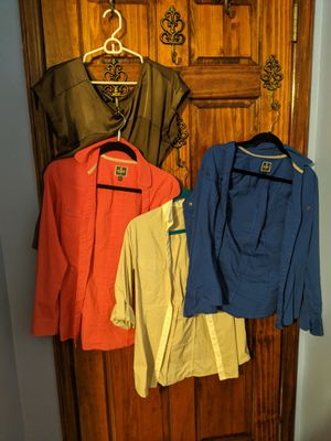 Lot of women's Express size 6 and medium dress slacks and blouses for Sale in Queens, NY