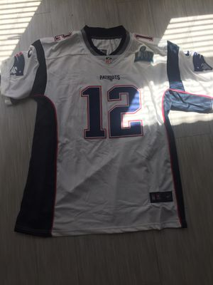 NEW Brady #12 New England Patriots Super Bowl White jersey size XLARGE for Sale in Tempe, AZ