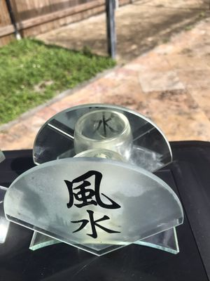 2 glass candles holders for Sale in Miami Beach, FL