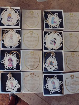 Precious Moment Christmas collectible set ornaments for Sale in NEW PRT RCHY, FL