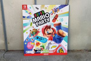 Super Mario Party Gamestop Display Poster for Sale in Fort Worth, TX