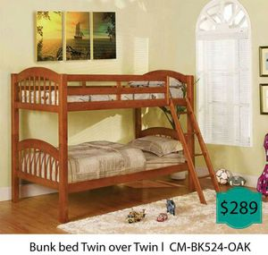 Bunk bed twin over twin for Sale in Fullerton, CA