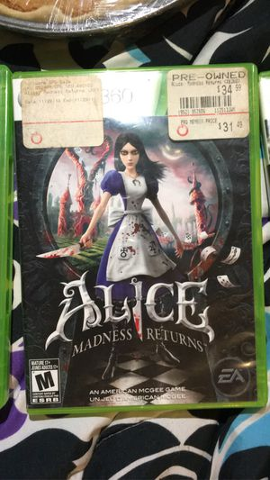 Alice: Madness Returns XBOX 360 for Sale in Arrington, VA