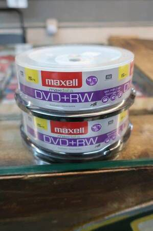 Maxell 15-Pack DVD + RW Rewritable & Recordable Blank Discs for Sale in Scottsdale, AZ
