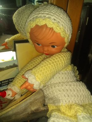 Antique doll with hand knitted body artist unknown? Make offer for Sale in Beaverton, OR