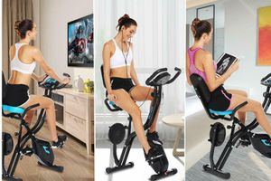 NEW Indoor Folding Exercise Bike Magnetic Trainer for Home Fitness Exercise Backyard Gym Workout for Sale in Las Vegas, NV