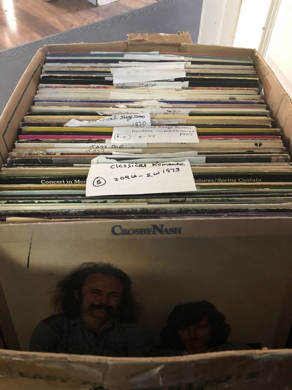 Box of 80 records / vinyl / no real big names but I thought Someone might want these random mix of records or maybe use for art work. I priced them a