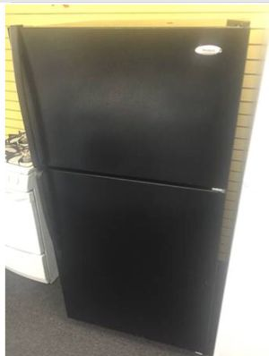 Whirlpool black Refrigerator $275 Liberty Discount Appliances for Sale in Milford Mill, MD