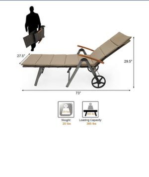 Outdoor reclinable chair for Sale in Bakersfield, CA