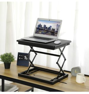 KICODE Height Adjustable Laptop Stand for Desk, Standing Desk, Stand Up Desk Converter, 4 Height Levels Sitting Standing Workstation for Notebook Com for Sale in Alhambra, CA