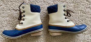 Sorel Women Slimpack Lace II Boots, Oatmeal/Collegiate Navy Size:8 for Sale in Herndon, VA