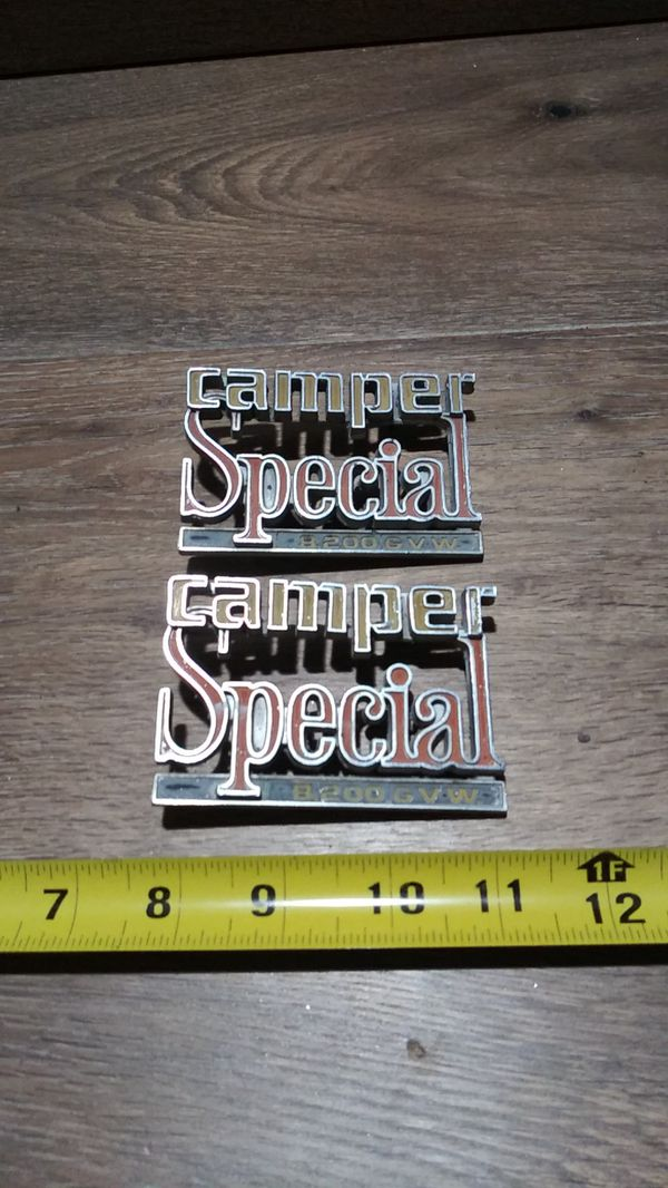 Original camper special badges