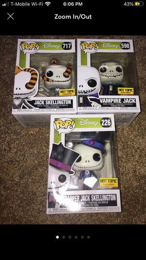 NIGHTMARE BEFORE CHRISTMAS FUNKO POPS for Sale in Scottsdale, AZ