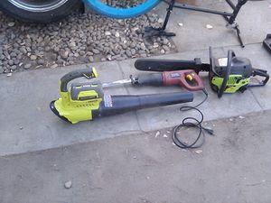 Blower,sawzaw,chainsaw for Sale in Menifee, CA